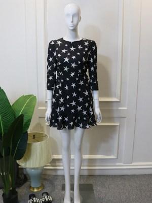 Lisa – BlackPink Open-Back Star Printed Dress (6)