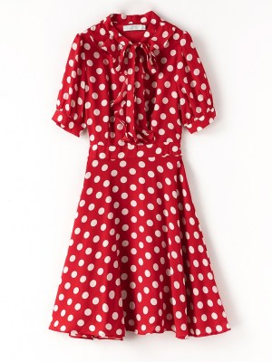 Lisa – Blackpink Red Polka Dot Dress (2)