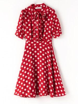 Lisa – Blackpink Red Polka Dot Dress (2)