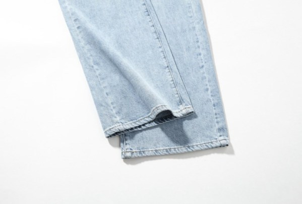Light Blue High Waist Wide Leg Denim Pants | Lisa -BlackPink
