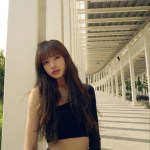 One Side Off-Shoulder Black Crop Top | Lisa – BlackPink