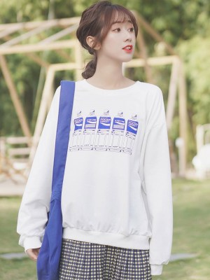 Pocari Bottles White Sweater (3)
