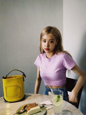 Lilac Short Sleeve Short T-Shirt   Rose – BlackPink