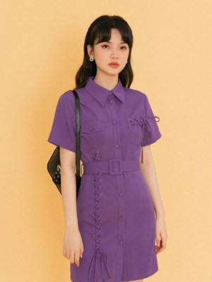 Shuhua Lilac Eyelet Stiches Detail Dress (12)