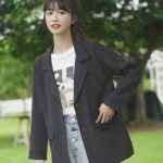 Black Two Buttons Suit Jacket