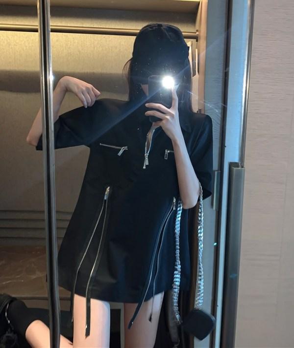 Black Zipper Shirt | Changbin – Stray Kids