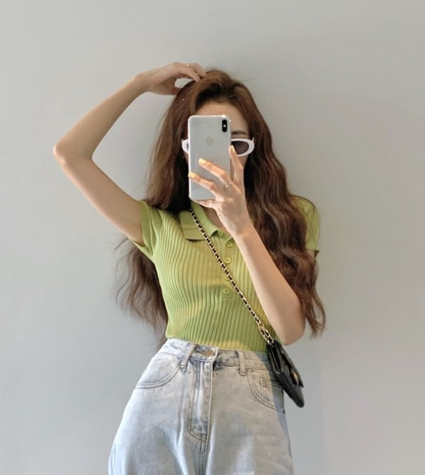 Green Knit Top | Chung Ha