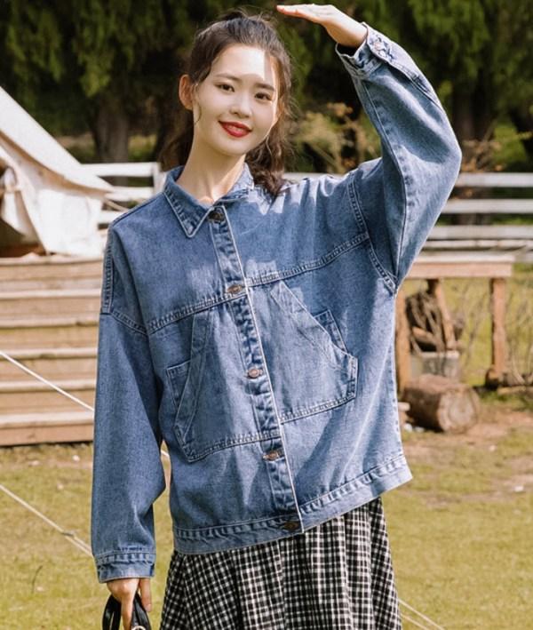 Hoodie Pocket Style Denim Jacket