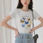 Butterfly Printed Black T-Shirt   Hwasa – Mamamoo