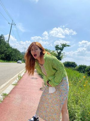 Floral Sleeveless Long Dress | Hyuna