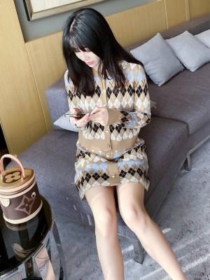 Hyuna – Mini Wool-Blend Skirt (4)