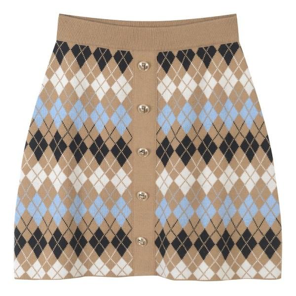 Mini Wool-Blend Skirt   Hyuna