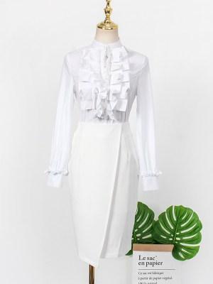 IU – Hotel Del Luna White Irregular Skirt (10)