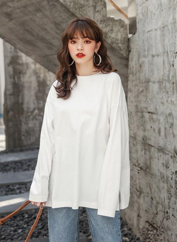 Grey Side Slit Shirt | Irene – Red Velvet
