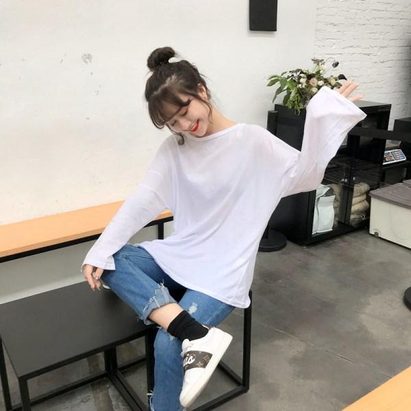 White Long Sleeve Shirt   Irene- Red Velvet