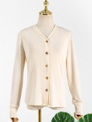 Jennie Apricot Knitted Cardigan (10)