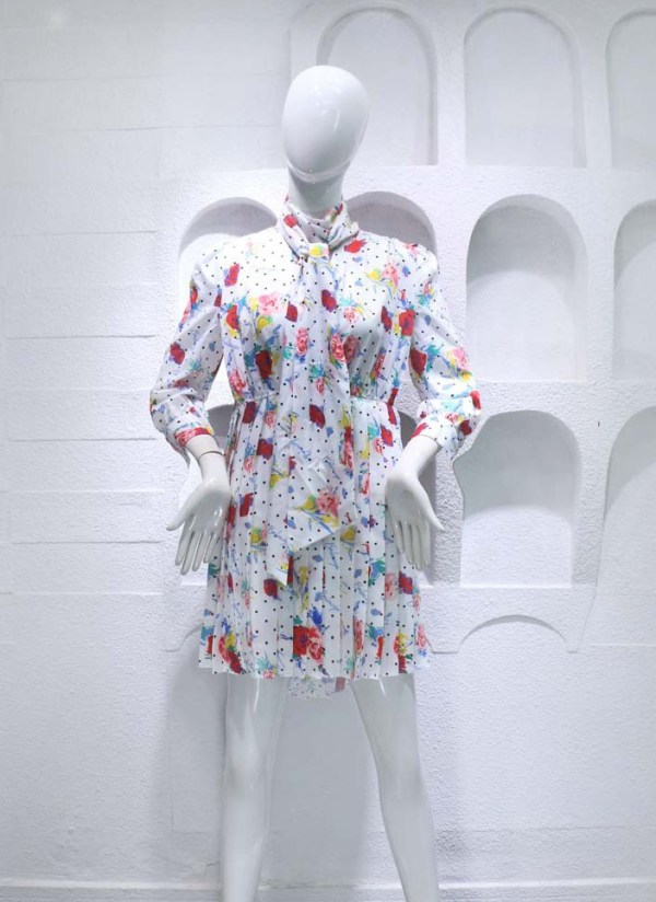 Floral Pleated Dress  | Jennie – BlackPink