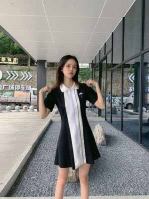 Joy Black And White Tennie Shirt Dress (5)