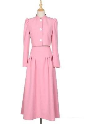 Ko Moon‑Young – It's Okay Not To Be Okay Long Pink Skirt (3)