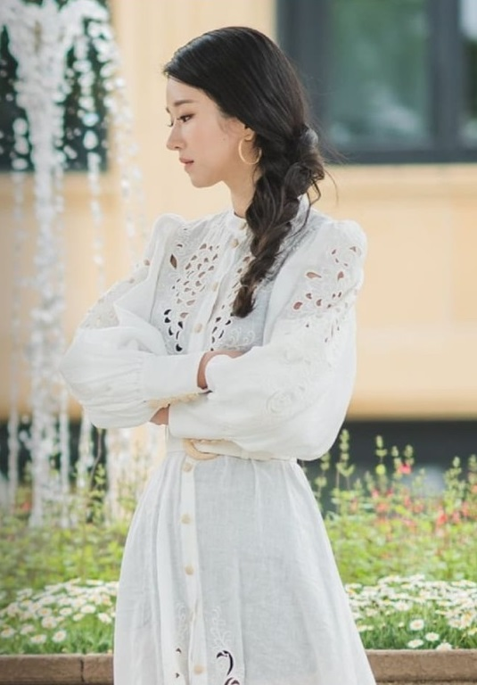 White Hollow Dress | Ko Moon‑Young – It's Okay Not To Be Okay