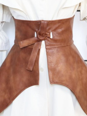 Ko Moon-Young Brown Bowknot Girdle Belt (2)