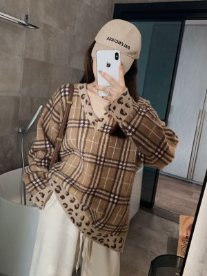 Lucas – NCT Plaid Sweater With Leopard Print (8)