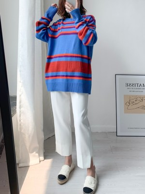 Suho -EXO Multicolored Stripe Sweater (1)