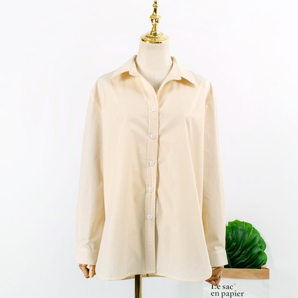 Beige Boyfriend Shirt | Yoon Se Ri – Crash Landing On You