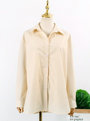 Yoon Se Ri – Crash Landing On You Beige Boyfriend Shirt (10)