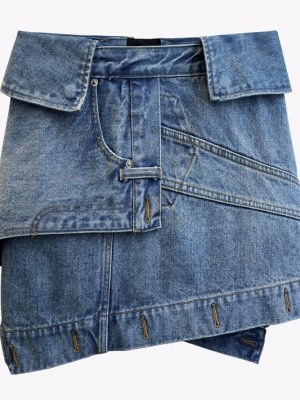 Yuqi – (G)I-DLE Deconstructed Denim Skirt (21)