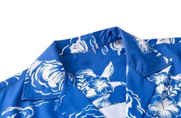 Blue Hawaiian Printed Shirt | Chanyeol – EXO