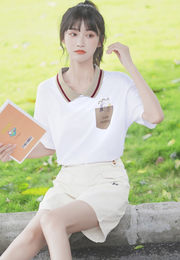Close Friend Polo Collared T-Shirt