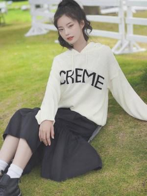 Creme Simple Hoodie (6)