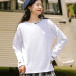 Embroidered Rock The Neckline T-Shirt