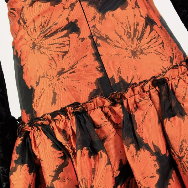 Floral Jacquard Skirt   IU – Hotel Del Luna