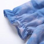 Blue Tie-Dye Puffed Sleeve Blouse | Jisoo – BlackPink