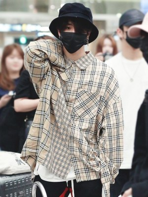 Classic Loose Plaid Shirt | Jisung – Stray Kids