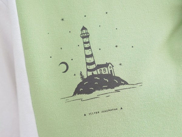 Lighthouse Island Printed Polo T-Shirt