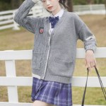 One Twisted Knot Side Knit Grey Sweater