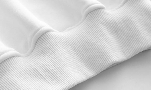 Plaid Ruffles On Sleeves White Sweater