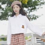 Pocket Bear Design White Shirt