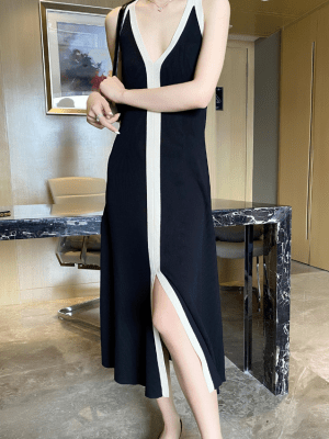 Seulgi – Red Velvet Black and White Long Dress (5)