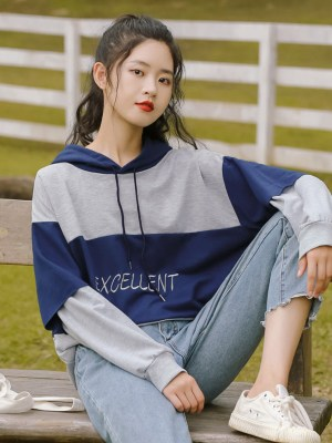 Two Tone Of Blue Excellent Hoodie (1)
