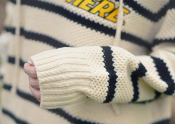 Wavy Black Striped Hoodie