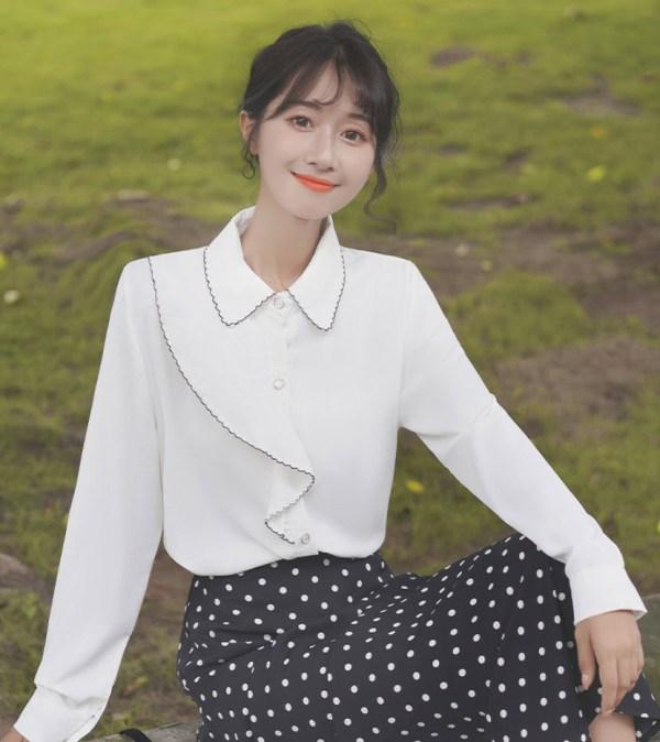 Wavy Cute Ruffles Shirt