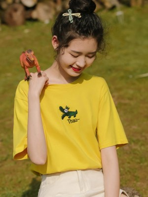 Yellow T-Shirt With Alligator (2)