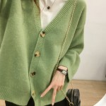 Green Knitted Cardigan | An Jeong‑Ha – Record Of Youth