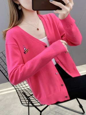 An Jeong‑Ha – Record Of Youth Bright Pink Cardigan (6)