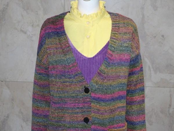 Rainbow Knitted Cardigan | Hyuna