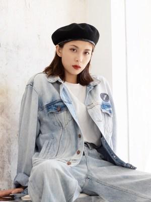 Jisoo -BlackPink Black Beret Hat (11)